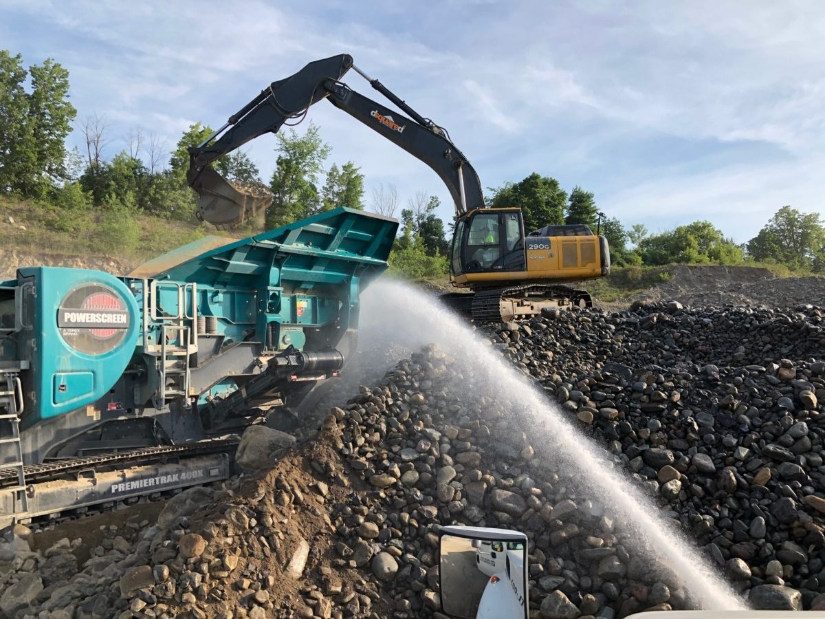 Dust suppression for quarries